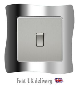 Silver Chrome Light Switch SURROUND Sticker Vinyl Skin Cover Decal - S2