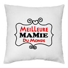 Housse de Coussin 40 x 40 cm - Meilleure Mamie du Monde - Yonacrea