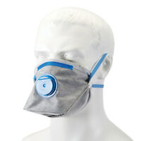 Carbon Dust Mask Respirator Fold Flat Valved FFP2 Activated Safety Filter  24...