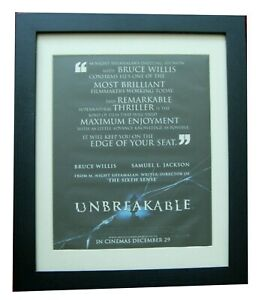 UNBREAKABLE+Movie+Film+POSTER+AD+ORIGINAL 2000+QUALITY FRAMED+FAST GLOBAL SHIP
