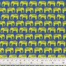 Cotton Print Fabric FQ All Over Elephant Retro Dress Quilt Craft FabricTime VK97