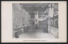 Postcard Cleveland Ohio/Oh Central National Bank Interior view 1906