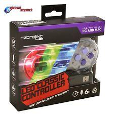 CONTROLLER LED CLASSIC SNES USB RETROLINK PER PC/MAC ANDROID RETROPIE NINTENDO