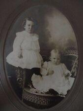 Instant Family in frame Cabinet Card Baby Children Toddler Jerrod and Hazel