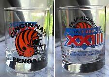 NFL Cincinnati Bengals Super Bowl XXIII Jan 22 1989 Collectors Drinking Glass