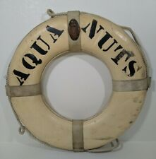 "Vintage Swimming Live Preserver Ring Buoy ""AQUA NUTS"" 1972 US Coast Guard Tag"
