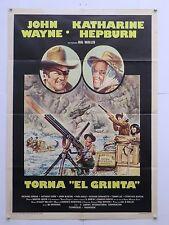 TORNA EL GRINTA western Millar J.Wayne K.Hepburn manifesto orig.1975