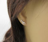 Giraffe Earrings - 925 Sterling Silver - Giraffe Ear Studs Animal Post Earrings