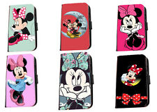 Minnie Mouse cute cartoon Inspired faux leather phone case for Huawei Samsung