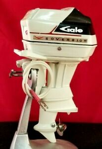 1960 Gale Sovereign 60 HP Toy Outboard Motor Model Boat Battery Op K&O Repro