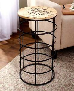 Decorative Sentiment Tables Country Love You To The Moon Stars Accent Table