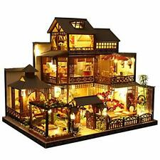 Puppenhaus miniatur runnerequipment Holzhaus handgemacht Geschenk unvollständig