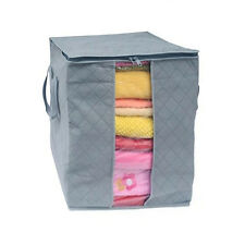 Large Clothes Bedding Duvet Zipped Pillows Non Woven Storage Bag Box GY