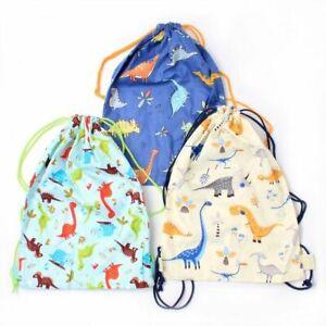 Children  Dinosaur Football Drawstring Bag Swimming School PE Christmas
