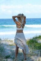 Cotton Ruffle Skirt, Boho Gypsy Hippie Goa Pixie Fairy Flamenco Dancing Festival