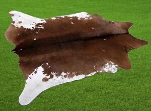 "New Cowhide Rugs Area Cow Skin Leather 15.34 sq.feet (47""x47"") Cow hide U-7022"