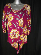 Regular Size Viscose Floral Tunic Tops & Blouses for Women