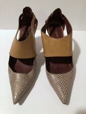 746c6cedb59e Coach Python And Tan Leather Heels Size 11