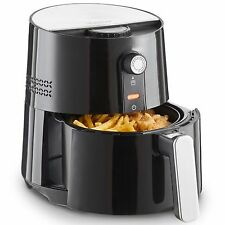 VonShef Air Fryer Manual Low Fat Health Fryer Cooker Oil Free Frying Black 3.5L