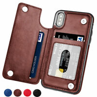 For iPhone XS Max XR 8 6 7 5 Magnetic Leather Case Flip Card Holder Wallet Cover