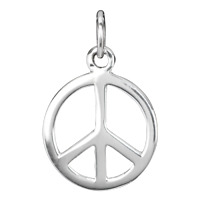 Peace Friedenszeichen Anhänger 925er Silber Symbol Schmuck - NEU