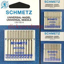 Sewing Machine Needles Schmetz Universal 10 Pack General Purpose Assorted Sizes