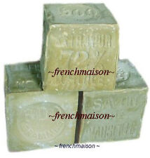 3 HANDMADE Provence Savon de Marseille OLIVE OIL Face Bath FRENCH SOAP Each 600g