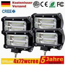 4x 72W LED Arbeitsscheinwerfer Offroad Scheinwerfer Flutlicht SUV LKW IP68