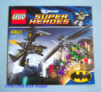 Lego DC Super Heroes 6863 Batwing Battle Over Gotham City - INSTRUCTIONS ONLY