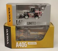 (2) VOLVO A40G & L60G LIMITED EDITION HAULER 1:50 SCALE DIE CAST MODEL MOTORART
