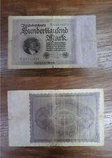 Billet Reichbanknote 100000 Mark Hunderttausend BERLIN 1923 GERMANY DEUTSCHLAND