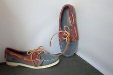 SEBAGO - Women's Blue/Brown Docksides Boat Deck Shoes - SIZE 6-W