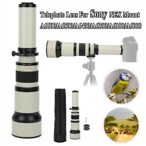 650‑1300mm Telephoto Lens for Sony NEX Mount A6600/A6500/A6400/A6300/A6100/A6000