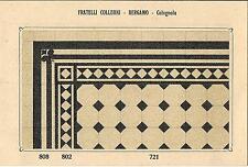 Stampa antica PAVIMENTO A MOSAICO Piastrelle Mattonelle C 721 1910 Antique print