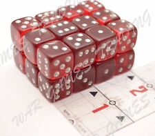 24x Red/White D6 Dice Set 1/2-inch 12-mm Clear 40K AoS Dark Imperium RPG DnD NEW