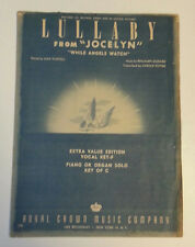 """LULLABY FROM """"JOCELYN""""""""While Angels Watch""""Vintage Sheet Music 1946 Godard Potter"""