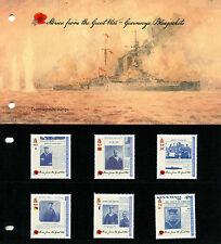 Guernsey 2016 MNH WWI Stories of Great War Pt 3 Bluejackets 6v Pres Pack Stamps