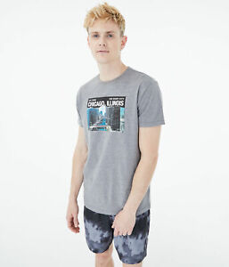 aeropostale mens downtown chicago graphic tee