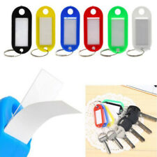 Portable Plastic Key Tags Metal Ring Luggage Card Name Label Keychain Split hh-4
