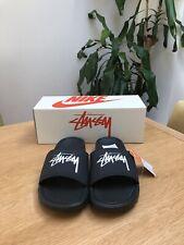 Stussy x Nike Benassi Sandal Slides Sliders - Black UK7 US8 EU41 - BRAND NEW