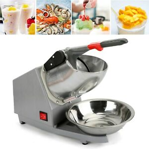 Ice Shaver Machine Snow Cone Maker Shaved Ice 143lbs Electric Crusher Shaving/US