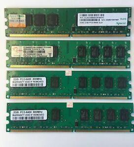 8GB 4x 2GB DDR2 PC2-6400 800MHz Desktop Memory PC DIMM RAM