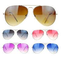 SA106 Gradient Color Lens Classic Wire Rim Aviator Sunglasses