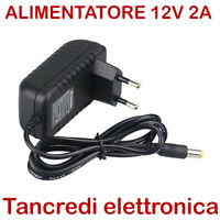 Alimentatore 12V 2A DC switching led videosorveglianza telecamera power supply