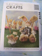 "BUNNIES & CLOTHING~JACKIE BESSNER McCall's 9210~6"" & 13"" cloth art doll patterns"