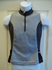 Velotex Women's Tri Cycling Sleeveless Tank Top Medium Gray New