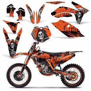 Dirt Bike Graphic Kit Decal + #Plates For KTM SXF,XC,EXC,XCF-W,XC-W 11-13 REAP O