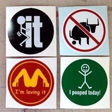 3pc Funny Hard Hat Stickers Helmet Decal Label Bull F**k It Loving It No Bull