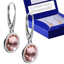 925 Sterling Silver Leverback Earrings Xirius VINTAGE ROSE Swarovski® Crystals