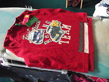 UNITED COLOURS BENNETON LONG SLEEVED RED CAR SHIRT - Age 4-5 Years  - BRAND NEW